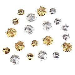 tartozék készlet készlet 20db arany és ezüst színű 3mm és 5mm tengeri kagyló képezi köröm 3d dekoráció