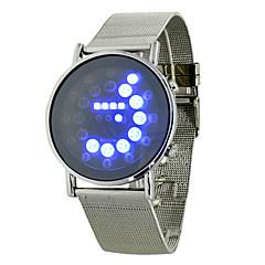 Da uomo Orologio sportivo Digitale LED / Nottilucente Lega Banda Orologio da polso Argento
