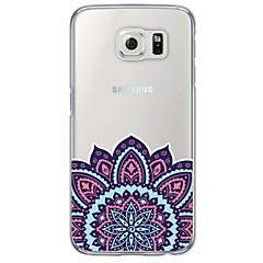 espalda Ultra-Fino / Traslúcido Impresión de encaje TPU Suave Ultra-thin Translucent Soft Back Cover Cubierta del caso para Samsung Galaxy