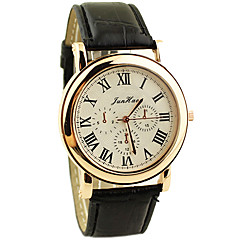 Couple's Casual PU Leather Band Quartz Watch