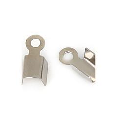 beadia 50pcs cable de acero inoxidable Tapa ondulada final& conectores para la fabricación de joyas