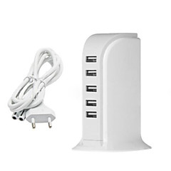 EUstralische stekker Telefoon USB-oplader Meerdere poorten cm Outlets 5 USB-poorten 2.1A 2A 1A 0.5A AC 100V-240V