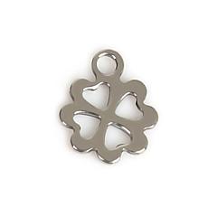 Amuletit Metalli Leaf Shape kuvana 50Pcs