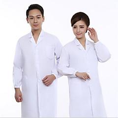 batas blancas para hombres y mujeres médicos enfermera bata de laboratorio bata blanca tienda de medicamentos trabajadores de las fábricas