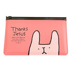 coelho pequeno saco transparente caneta
