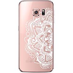 indietro Ultrasottile Mandala modello TPU Morbido soft Ultra-thin Transparent Copertura di caso per Samsung GalaxyS7 edge / S7 / S6 edge