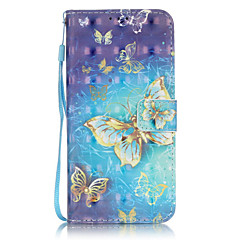 Body collant Support de Carte / portefeuille Other Cuir PU Dur 3D Painted Patterns Couverture de cas pour Samsung GalaxyS7 edge / S7 / S6