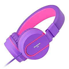 3.5mm Stereo Lightweight Foldable Headphones Adjustable Headband Headsets with Microphone