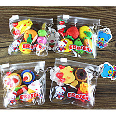Creative Korea Cartoon Stationery Simulation Fruit Food Eraser Kindergarten Students Prize Gift Set