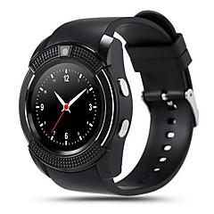 Herren / Damen Smart Uhr digital Touchscreen / Fernbedienung / Kalender / Alarm / Schrittzähler / Fitness Tracker / Stopuhr Caucho Band