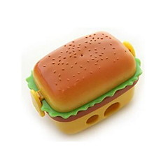 Simulation Hamburger Double Pencil Sharpener   Pencil Sharpener With Two Rubber