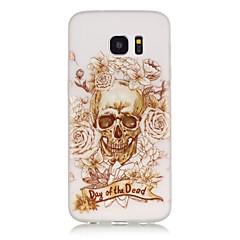 Mert Samsung Galaxy S7 Edge Foszforeszkáló / Minta Case Hátlap Case Koponya Puha TPU SamsungS7 edge / S7 / S6 edge plus / S6 edge / S6 /