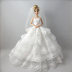 Wedding Dresses For Barbie Doll White Lace Dresses