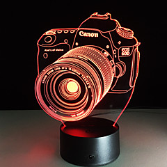 novelty 3d akryl underhållning kamera illusion LED-lampa USB bordslampa rgb nattlampa romantiskt säng decortion lampa