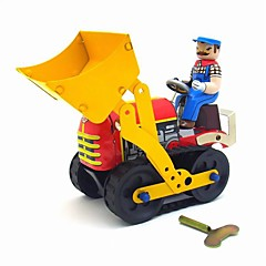 A Bulldozer Wind-up Toy Leisure Hobby / Metal Yellow For Kids