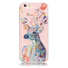 Deer Pattern TPU Material Glow in the Dark Soft Phone Case for iPhone 7 7 Plus 6s 6 Plus SE 5s 5