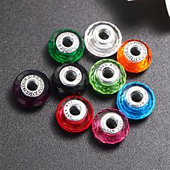 joyería de bricolaje aspecto colorido de la pulsera