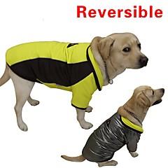 Gatos / Perros Abrigos / Chaleco Rojo / Amarillo Ropa para Perro Invierno / Primavera/Otoño Bloques Mantiene abrigado / Reversible