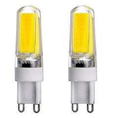 4W G9 LED-lampor med G-sockel T 1 COB 300-450 lm Varmvit / Kallvit / Naturlig vit Dimbar / Dekorativ AC 220-240 / AC 110-130 V 2 st