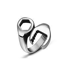 Ringen Punk-stijl Causaal Sieraden Titanium Staal Heren Statementringen 1 stuks,7 / 8 / 9 / 10 / 11 / 12 Zilver