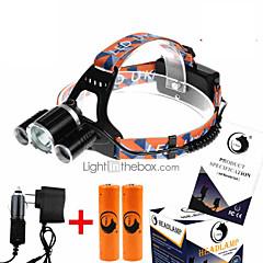 U'King Pandelamper Forlygte stropper LED 9000LM Lumen 4.0 Tilstand Cree XM-L T6 18650 Komapkt Størrelse Højstyrke Nemt at bære