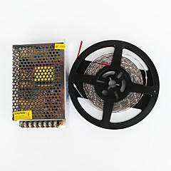z®zdm 5m 100w 600 * 7020 SMD kold hvid fleksibel LED lys og 100-240 V til DC12V 8,5 A transformer