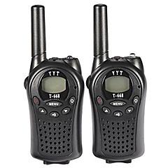 t-668 PMR walkie-talkie gyerekeknek mini pocket kézi PMR adó-vevő 5km tartomány 8channels jó játék játékok (1pár)