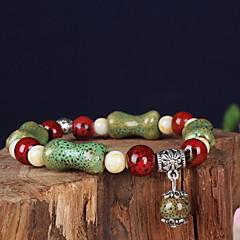 Strand Bracelets 1pc,Green Bracelet Vintage Circle 514 Ceramic Jewellery