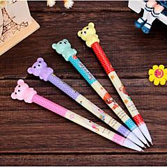 T2141 2023 Teddy Bear Fashion Students Learn Mechanical Pencil Writing Pen Writing Pen Tool