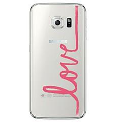Varten Samsung Galaxy S7 Edge Läpinäkyvä / Kuvio Etui Takakuori Etui Sana / lause Pehmeä TPU SamsungS7 edge / S7 / S6 edge plus / S6 edge