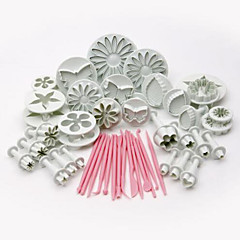 New 47 pcs Sugarcraft Cake Decorating Fondant Icing Plunger Tools Mold Mould