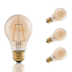 GMY® 2.5W E26 LED Filament Bulbs A19 2 LED Filament 160 lm Amber Color Dimmable AC 120V 4 pcs