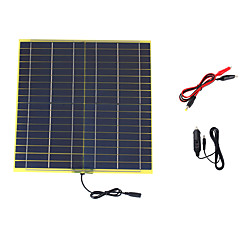 15W 18V Portable Monocrystalline Solar Panel Car Automobile Rechargeable Power Battery Charger (SWB1518C)