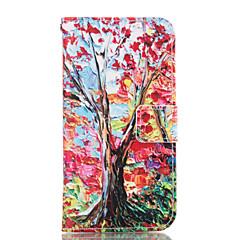 For Samsung Galaxy etui Pung Kortholder Med stativ Etui Heldækkende Etui Træ Blødt Kunstlæder for Samsung A7(2016) A5(2016) A3(2016) A7 A5