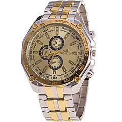 Heren Modieus horloge / Polshorloge Kwarts / Roestvrij staal Band Cool / Vrijetijdsschoenen Goud Merk