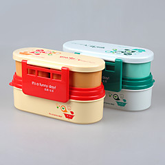 Eco Microwave Oven Bento Lunch Box with Divider
