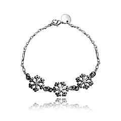 2016 Snowflake 925 Sterling Silver Black Luxury Specially Bracelets For Women
