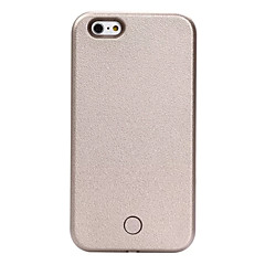vissza Ütésálló / Porbiztos / LED Flash Lighting / LED Tömör szín Műbőr Kemény LED Cell Phone Cases Coque for iPhone Tok AppleiPhone 6s