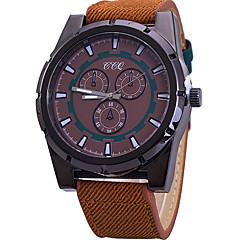Heren Sporthorloge Modieus horloge Polshorloge Kwarts / Stof Band Cool Vrijetijdsschoenen Zwart Blauw Orange Bruin Merk