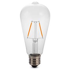 2W E27 ST64 Edison levou filamento da lâmpada lâmpada dimmable 25W equivalente (220-240V)
