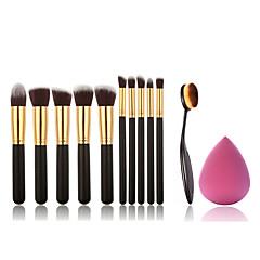 11 Brush Sets Synthetisch haar Professioneel / Beugel / Milieuvriendelijk / Draagbaar Hout Gezicht Overige