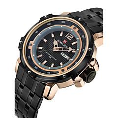 NAVIFORCE Heren Militair horloge Modieus horloge Polshorloge Kwarts Japanse quartz Kalender Waterbestendig Roestvrij staal BandCool