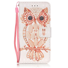 Varten iPhone 6 kotelo / iPhone 6 Plus kotelo Lomapkko / Korttikotelo / Tuella Etui Kokonaan peittävä Etui Pöllö Pehmeä Tekonahka Apple