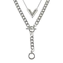 Halsband Kedje Halsband Smycken Party / Dagligen / Casual Moderiktig / Bohemstil Legering / Spets Silver 1st Present