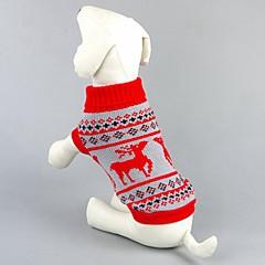 Gatos / Perros Suéteres Rojo / Negro Ropa para Perro Invierno / Primavera/Otoño Venados Mantiene abrigado / Navidad