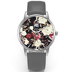 Erkek Elbise Saat / Moda Saat / Bilek Saati Quartz Su Resisdansı / Renkli Gerçek Deri Bant Havalı / Günlük Gri Marka