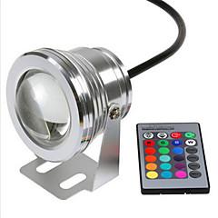 Rgb 10w undervands lampe vandtæt sikkerhedsspænding dc12v undervands farverige lys v1pc
