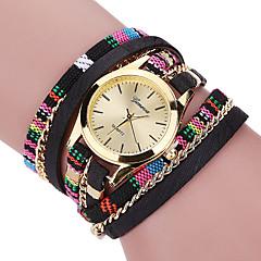 Dames Modieus horloge / Armbandhorloge Kwarts / Stof Band Cool / Vrijetijdsschoenen Zwart / Blauw / Rood / Grijs / Roze / Paars Merk