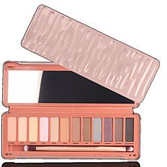 12 Paleta de Sombras Secos Paleta da sombra Pó Normal Maquiagem para o Dia A Dia / Maquiagem de Festa / Maquiagem Olho de Gato