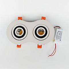 zdm 14W csutka sötétedő kétágyas forgatni 360 fokban vezetett beágyazott mennyezeti lámpa (ac90-260v)